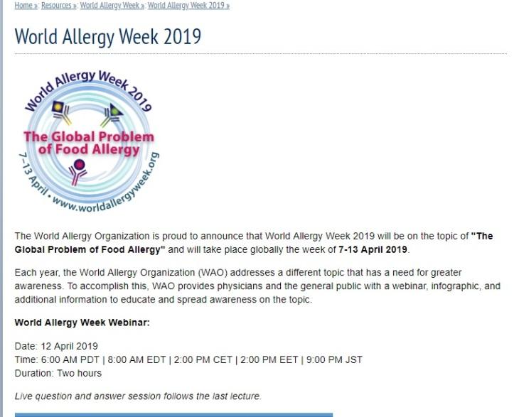semana de la alergia 2019